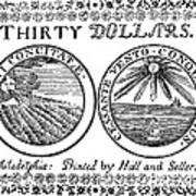 Continental Banknote, 1776 Art Print
