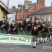 Corduff Pipe Band St Patricks Day Parade Carrickmacross Art Print