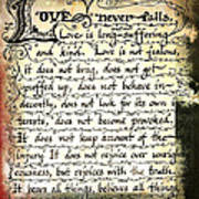 1 Corinthians 13 Love Never Fails Art Print