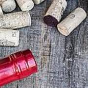 Corks With Bottle Art Print