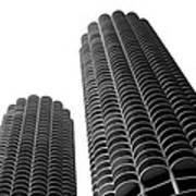 Corn Buildings Chicago Art Print