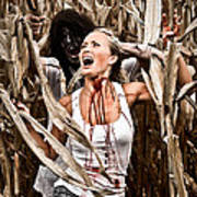 Corn Field Horror Art Print