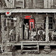 Country Store Coca-cola Signs Dorothea Lange Photo Gordonton North Carolina July 1939-2014 Art Print
