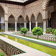 Courtyard Of The Maidens In Alcazar Palace Of Seville Art Print