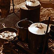 Cowboy Cooking Art Print