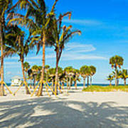 Crandon Park Beach Art Print