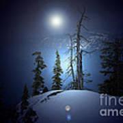 Crater Lake Midnight Oregon Art Print