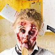 Crazy Sick Monster Eating Gmo Food Art Print