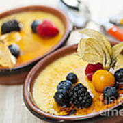 Creme Brulee Dessert Art Print