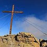 Cross At Capu Di A Veta Near Calvi Art Print