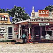 Crossroads Store Bar Juke Joint And Gas Station Fsa Marion Post Wolcott Melrose Louisiana Art Print
