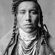 Crow Indian Man Circa 1908 Art Print by Aged Pixel