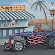 Cruizin' At Da L.a. Pit Art Print