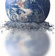 Crumbling Earth Art Print