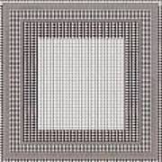 Crystal White And Gray Dots Design Pattern Shade Deco Decoration Art Print