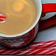 Cup Of Christmas Cheer - Candy Cane - Candy -  Irish Cream Liquor Art Print