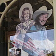 Dale Evans Roy Rogers Cardboard Cut-outs Flag Reflection Helldorado Days Tombstone 2004 Art Print