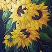 Dancing Sunflowers  Art Print