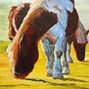 Dartmoor Ponies Painting Art Print