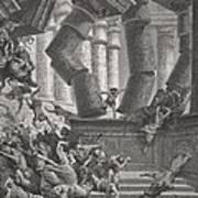 Death Of Samson Art Print by Gustave Dore