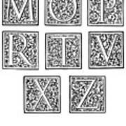 Decorative Initials, C1600 Art Print