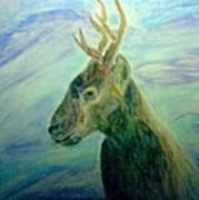 Deer At Home Art Print