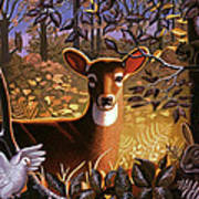 Deer In The Forest Art Print