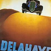 Delahaye Cars - Vintage Poster Art Print