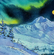 Denali Night Art Print