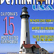 Destinations Usa Faux Magazine Cover Art Print
