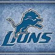 Detroit Lions Print by Joe Hamilton