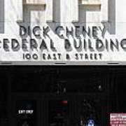 Dick Cheney Federal Bldg. Art Print by Oscar Williams