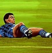 Diego Maradona 2 Art Print
