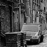 Dirty Back Streets Mono Art Print