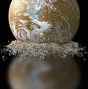 Dissolving Earth Art Print