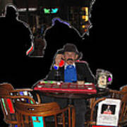 Doc Holliday Teaching Faro Crystal Palace Saloon Tombstone Arizona 2004  Art Print