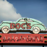 Doc's Bar And Grill Art Print