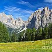 Dolomites - Catinaccio Mount Art Print