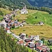 Dolomiti - Laste Village Art Print