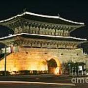 Dongdaemun Gate Landmark In Seoul South Korea Art Print