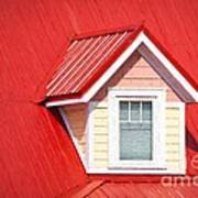 Dormer Window On Red Roof Art Print