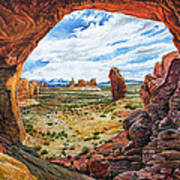 Double Arch Print by Aaron Spong