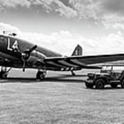 Douglas C-47a Skytrain Ready For D-day Art Print