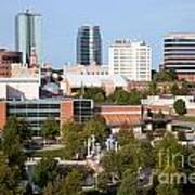 Downtown Knoxville Tennessee Skyline Art Print