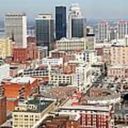 Downtown Skyline Of Louisville Kentucky Art Print