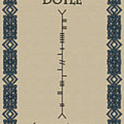 Doyle Written In Ogham Art Print