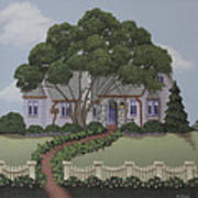 Dragonfly Cottage Art Print