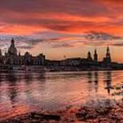 Dresden Sunset Art Print