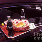 Drive-in Coke And Burgers Art Print