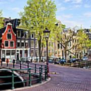 Dutch Canal Houses In Amsterdam Art Print